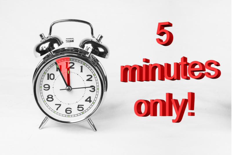 Aprender inglés en cinco minutos
