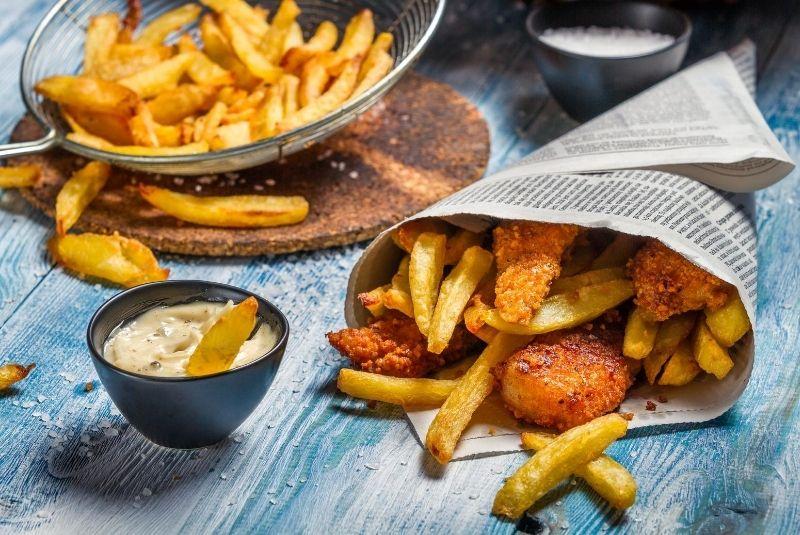 Diferencias entre el inglés británico y el americano. Fish and chips.