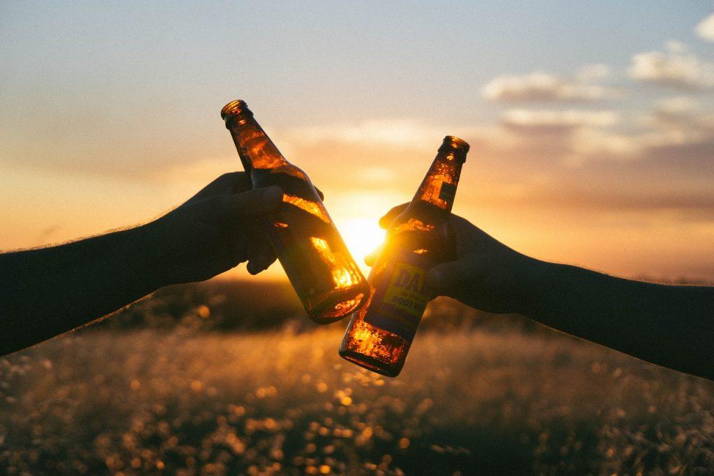 Cervezas al atardecer