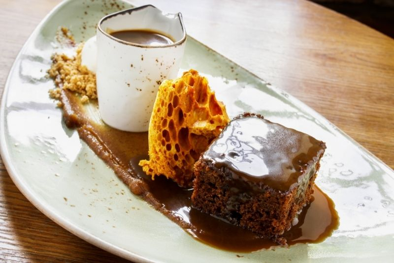 Postres ingleses Sticky Toffee