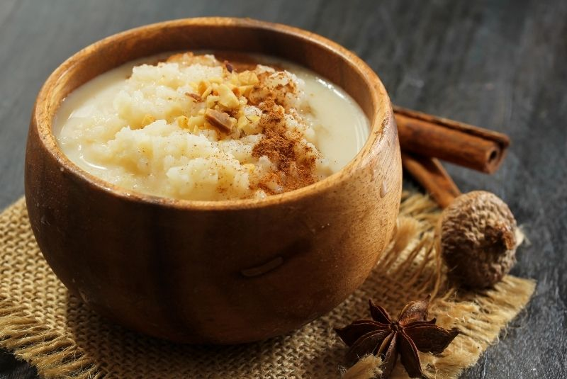 Postres ingleses Rice Pudding
